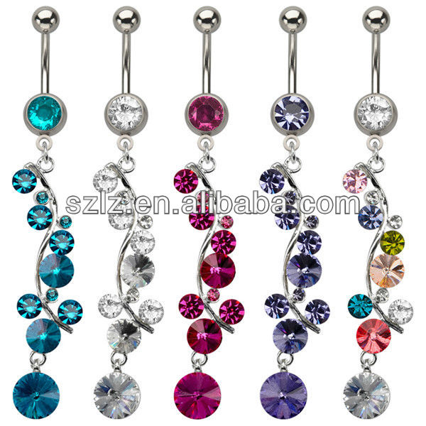 medical stainless steel banana belly rings piercing