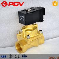 3 inch brass thread connection steam valve solenoid