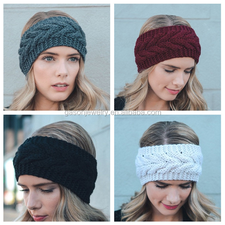 New Lady fashion knitting wool wide <strong>headband</strong> earmuffs warm winter <strong>headband</strong>