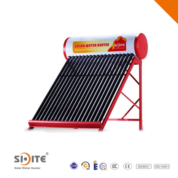 Compact Non Pressured Electrical Heating Element Solar Water Heater