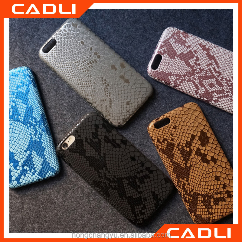 Sexy Snake Skin Pattern Phone Case For iPhone 6 6s Soft PU Leather Mobile Phone Back Shell Cover