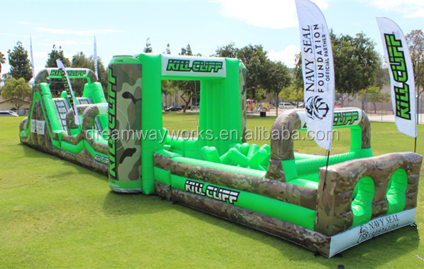 Quality Assurance adult inflatable obstacle course for outdoor events