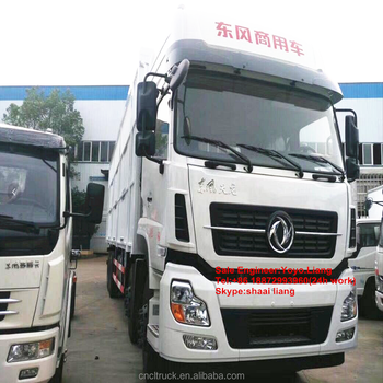 Dongfeng Tianlong 8x4 Hydraulic Lift Three Layer Load Board Fence Cargo  Truck Mature Pig Transport Cargo Truck With Low Price - Buy Fence Cargo