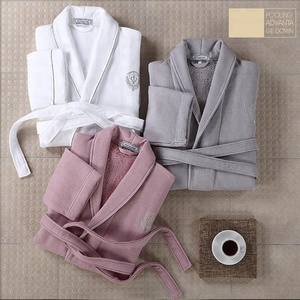 Classical Hotel 100% Organic Cotton Robes Terry Cloth Robes Bath Robe For Men