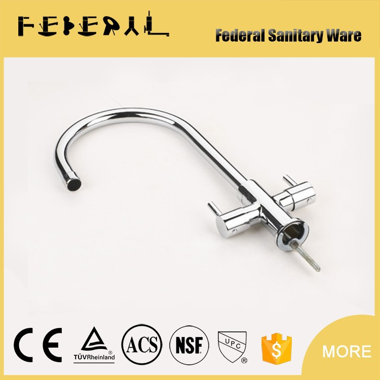New Design Single Hole Brass Kitchen faucet Mixer with swivel spout