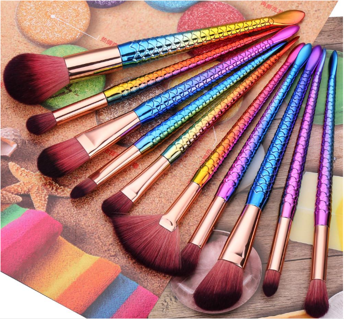 10pcs cosmetics Eye shadow make up brushes cute makeup brushes set beauty colorful makeup tools set cosmetic make up brushes
