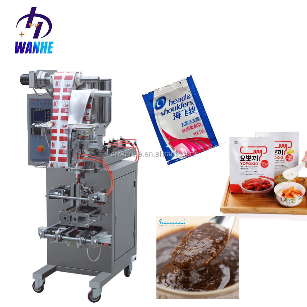 WHIII-S100 Automatic small sachet tomato paste jam packing <strong>machine</strong> shampoo /cream / filling packing <strong>machine</strong>