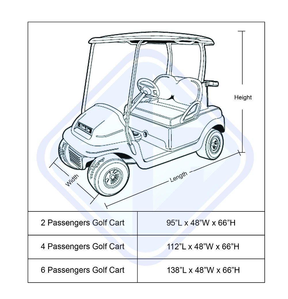 All Weather Protection Waterproof Club Car Golf Cart Rain