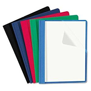 """Universal - Clear Front Report Cover Tang Fasteners Letter Size Assorted Colors 25/Box """"Product Category: Binders & Binding Systems/Report Covers & Pocket Portfolios"""""""