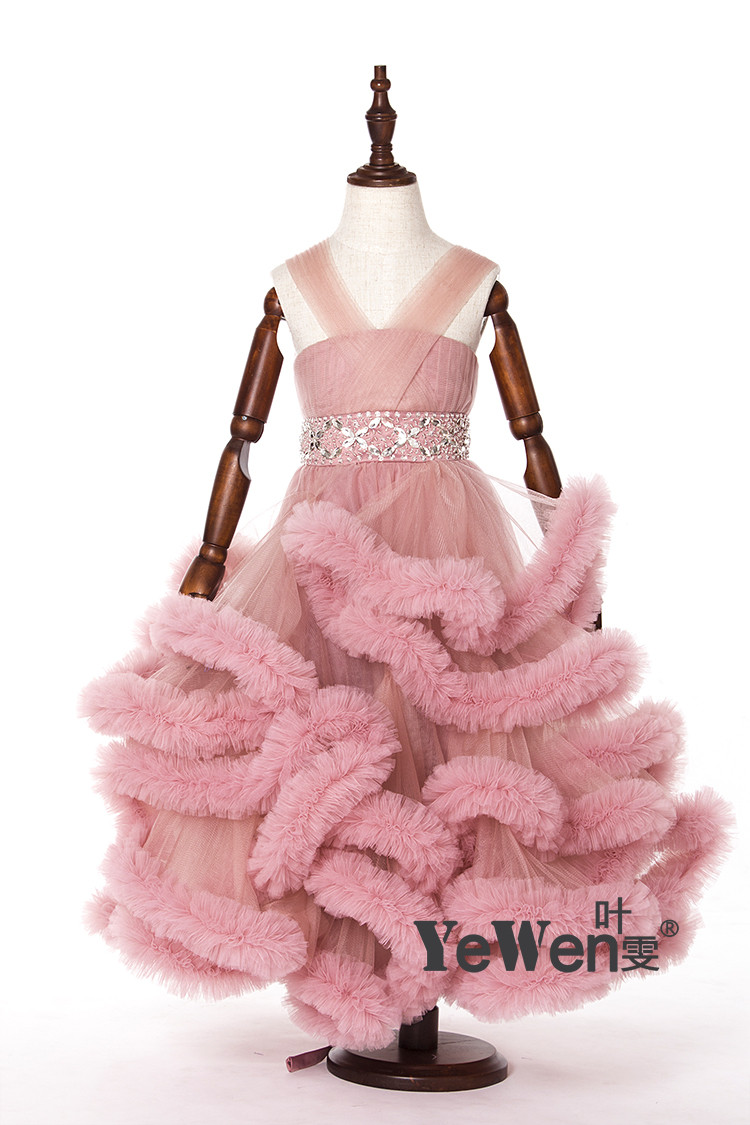 Cloud little flower girls dresses for weddings Baby Party frocks sexy children images Dress kids prom dresses evening gowns 2016 9