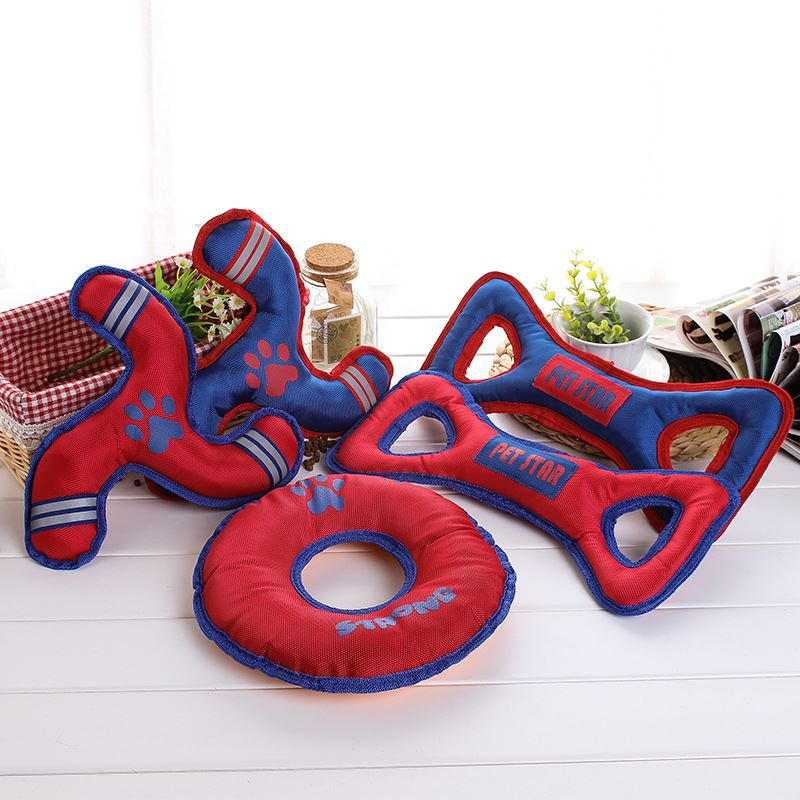 Amzon hot sell The large dog dog toys Oxford cloth knot pet toys resistant bite interaction / easy cleaning teeth