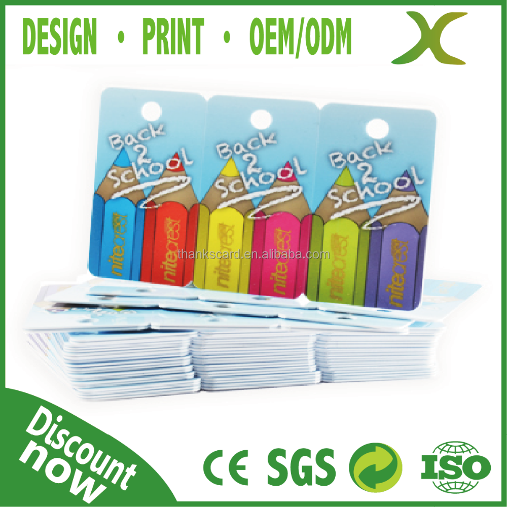 High Quality~ Free design Free credit card size template / plastic card qr code / Plastic Snap off card
