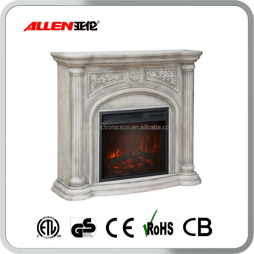 stone effect fake flame electric fireplace with faux stone. Black Bedroom Furniture Sets. Home Design Ideas