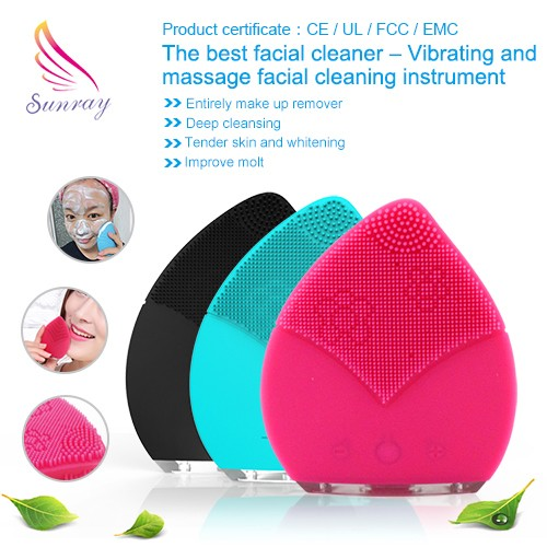 Spa product beauty massager silicone facial cleansing brush Firmer and younger looking skin