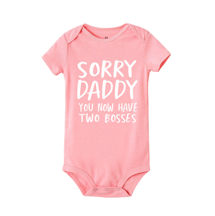 Shortsleeve bodysuit 100% cotton pure color with cute letters prints new style high quality summer clothes romper for infants