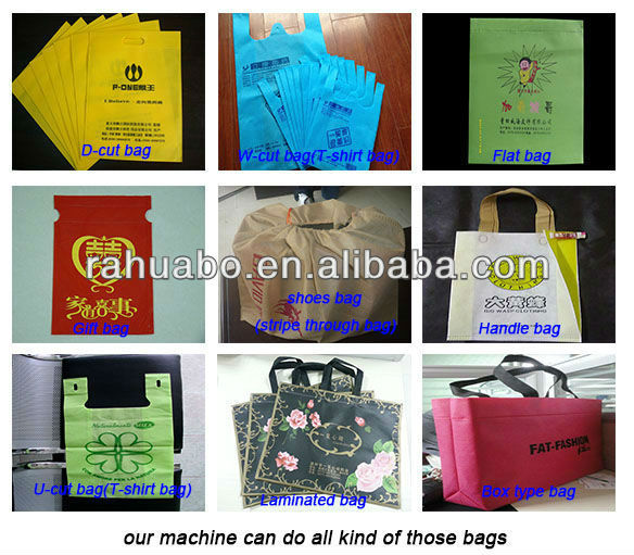 High speed nonwoven clothes bag making machine