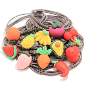 New Top Sell Simulation Fruit Kids Hairband Watermelon Banana Pineapple Apple Sliced Charm Girls Hair Band HairRope Child Access