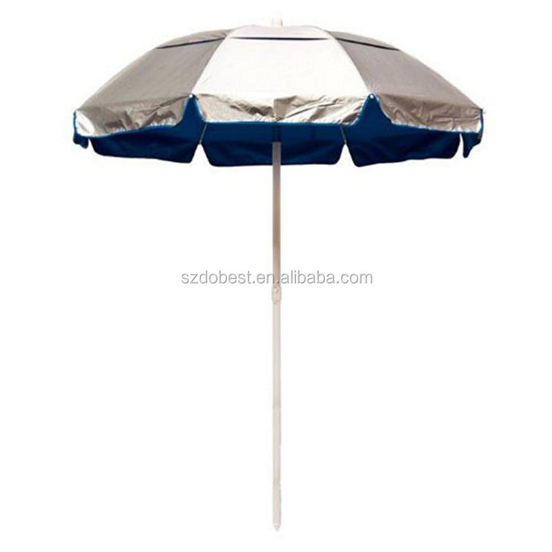 8panels or10panels outdoor windproof folding beach umbrella with logo printed