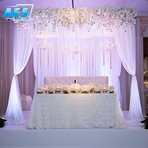 Pipe and Drapes For Wedding/Glittering Wedding Beautiful Mandap Backdrop