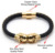 Famous brand skull jewelry leather bracelet