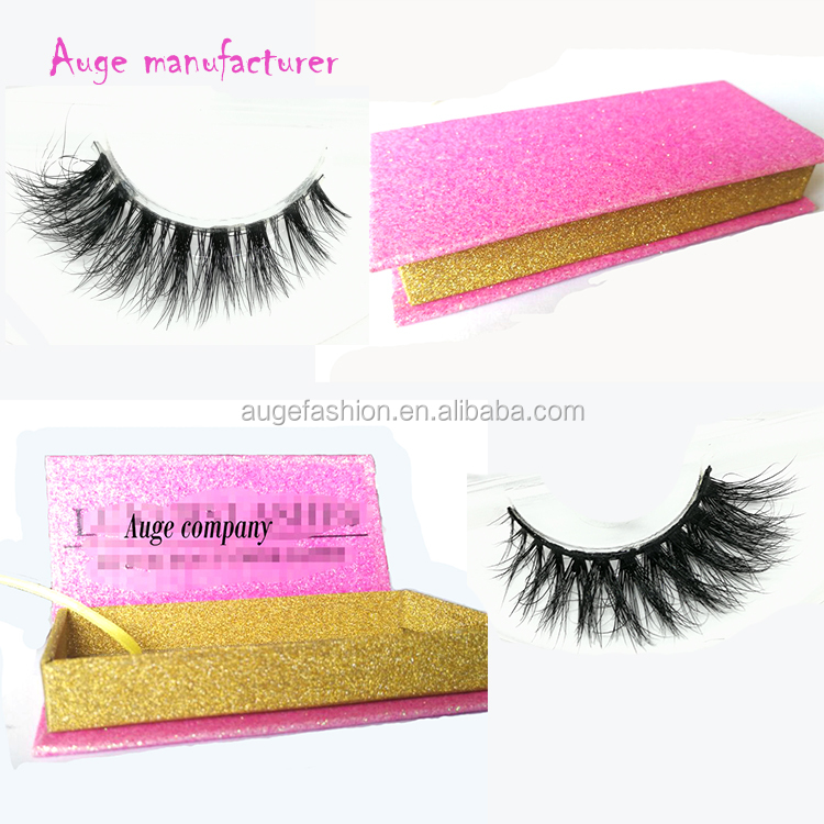 Hot shiny gold Stamping magnetic eyelashes package box amazing 3d real mink eyelashes