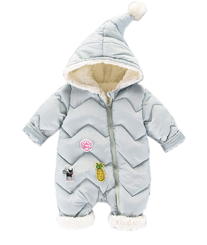 72f1de341 Get Quotations · Datangep Baby Girls Boys Hoodie Winter Warm Puffer Down  Jacket Snowsuit Romper Outwear