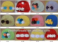 sales promationbaby news boy hat with flower new baby crochet hat