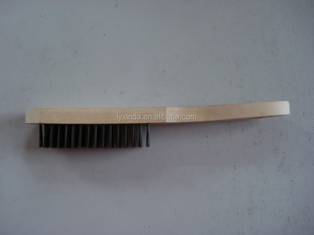 wooden handle galvanized steel wire brush, cleaning hand tools