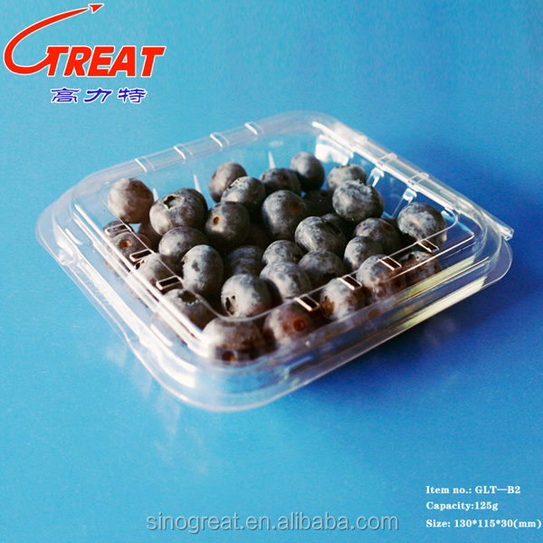 wholesale disposable hinged clamshell,fruit berry tray,plastic fruit tray PET PP