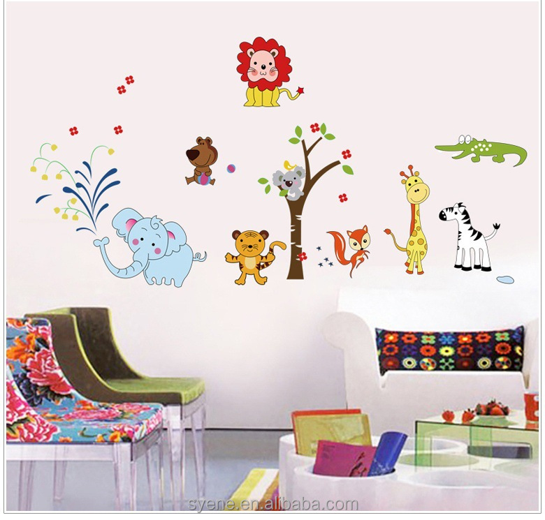 Animales pegatinas de pared decoraci n para el hogar for Pegatinas pared ninos