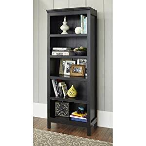 Get Quotations · Sturdy 10 Spring Street Burlington Collection 5 Shelf  Bookcase, Black