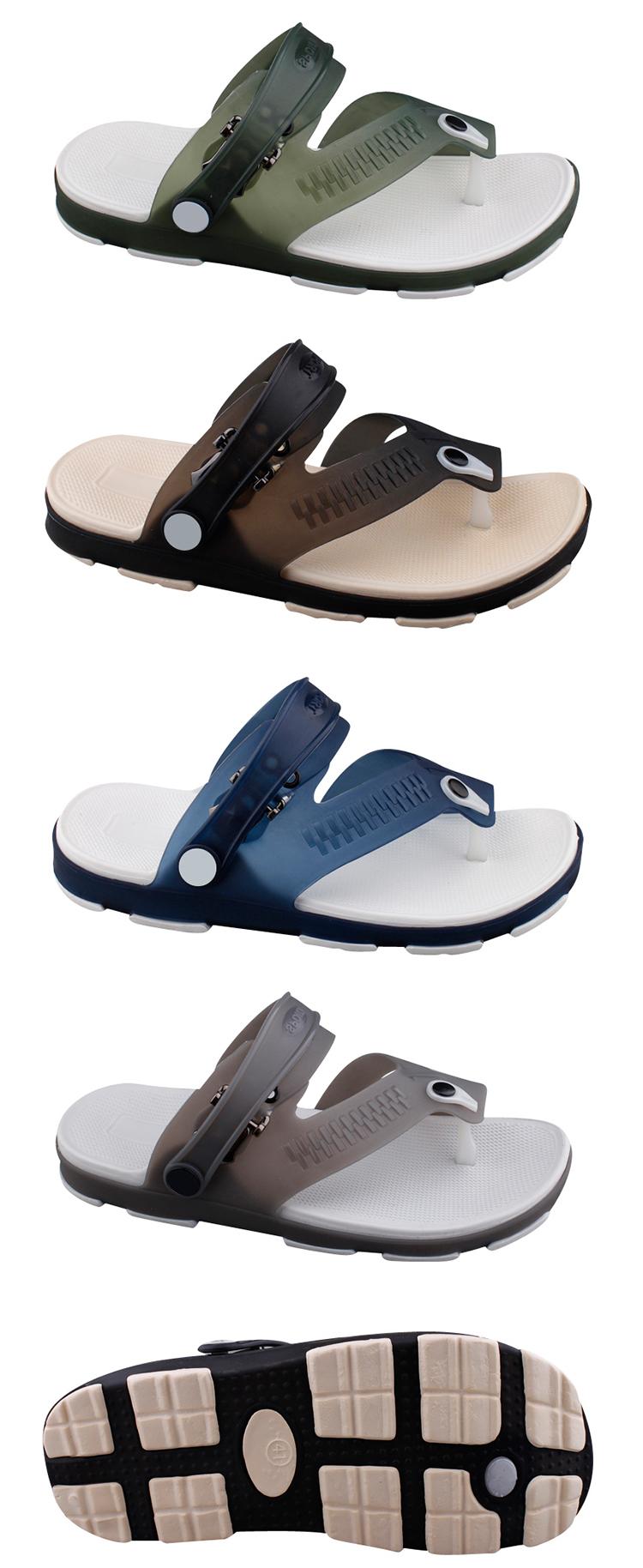 2ebeba77e New design men jelly shoes clear PVC flip flops beach thong sandals ...