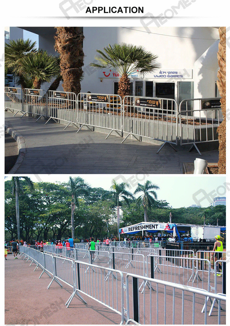 Aluminum Finish Police iron gate Designs / safety parking barrier for traffic / road barrier in China
