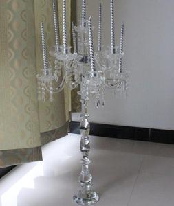 9 Arms clear Crystal glass Wedding Candelabra MH-1936