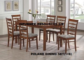 Poland Dining Set, Wooden dining set, Home Furniture