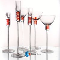 Samyo Glassware Manufacturer silver plated glass candle holder