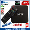 Pre-installed amlogic s812 full hd 4k m8s tv box quad core m8s lcd tv box