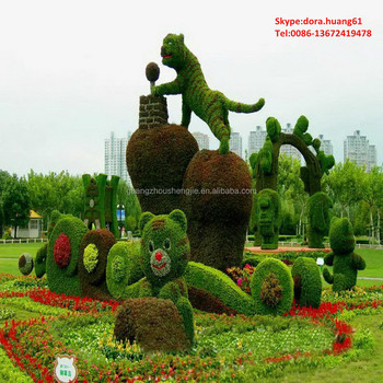 sjh010377 large artificial grass animal wire garden animals - Garden Animals