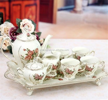 chaozhou factory directly manufacture western style porcelain coffee stencil set