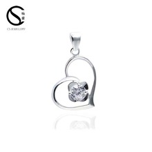 Heart-shaped Necklace Female Pendants And Charms brass jewelry 3-7084