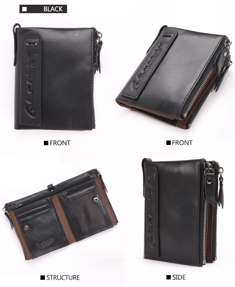 GUBINTU Brand Genuine Leather Short Section Wallet Fashionable Men's Purse Accept Drop Ship