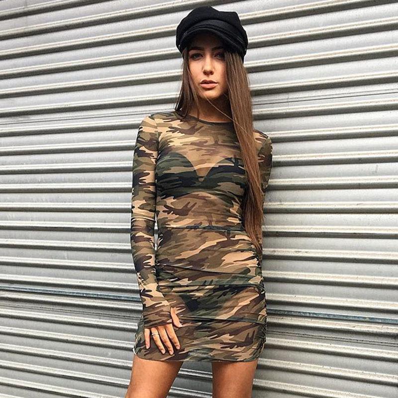 Sexy Transparent Camouflage Kleid Hot Club Tragen Kurze Kleid Mit Langarm Buy Sexy Transparent Kleid Hot Club Wear Kurzes Kleid Kleid Product On Alibaba Com