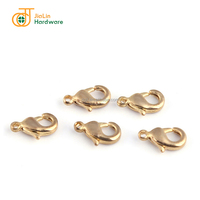 Wholesale jewelry accessory parts brass decorative lobster claw clasp for leather bracelets