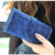 2018 Fashion PU Leather Clutches Purse for Female ,Women retro matte stitching Card Bags lady Wallets