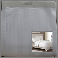 CM40xCM40 bleached white cotton striped hotel bedding fabric 3cm
