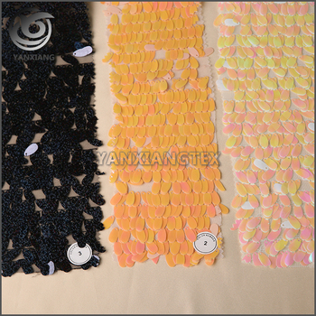 China professional manufacture Multi-color embroidered lace fabric