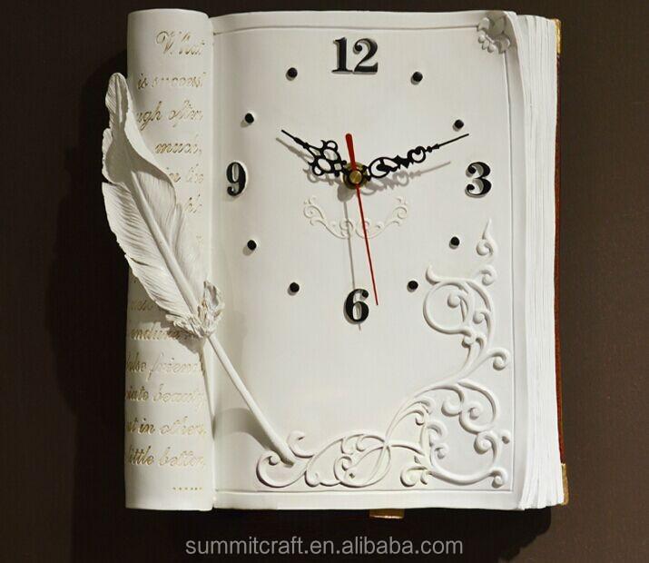 moderno 3d libro disegno in resina orologio da parete per soggiorno ...