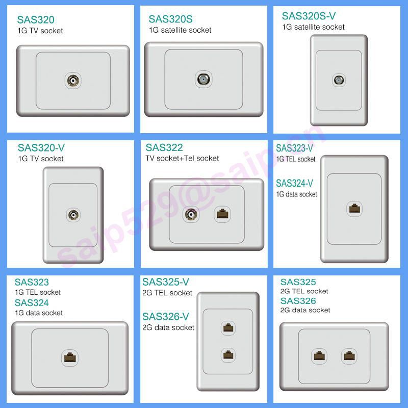 Saipwell Electrical Outlet Types USB Power China Wholesale Price UK Wall Socket With