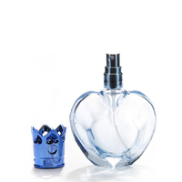 30ml wholesale crown top round apple shaped color coating charm smart refillable perfume spray glass bottle