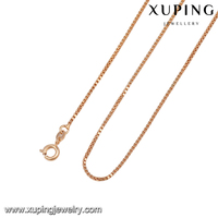 42976-xuping fashion most popular latest rose gold simple necklace chain designs